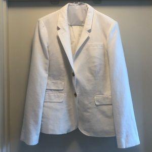 NWOT J. Crew Linen School Boy Blazer